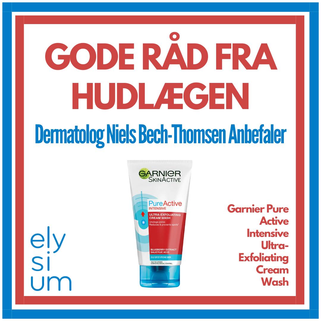 Hudlægen Anbefaler: Garnier Pure Active Intensive Ultra-Exfoliating Cream Wash